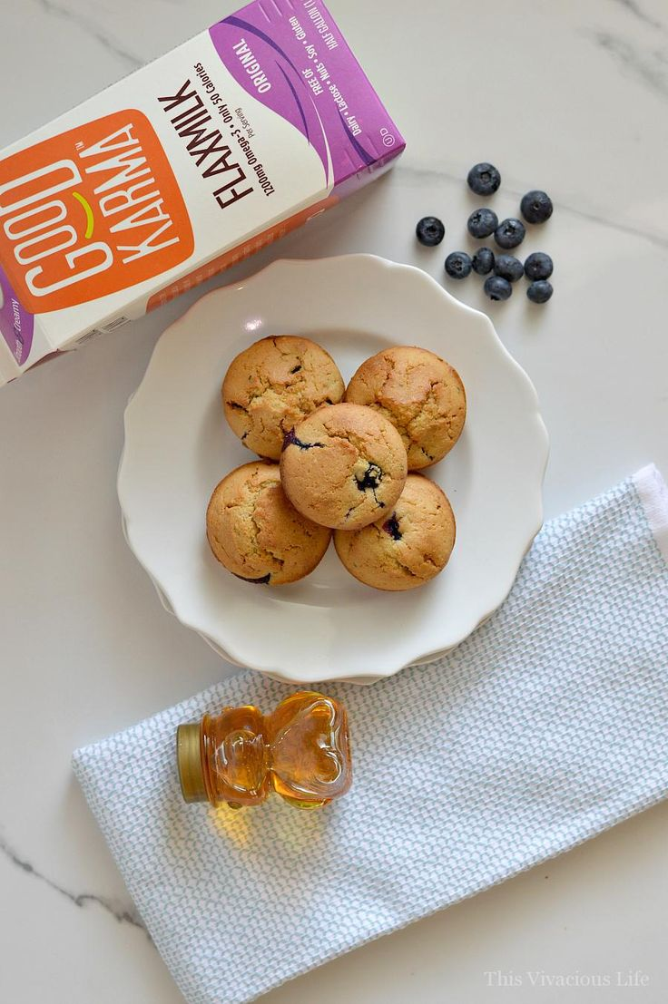 These gluten-free dairy-free blueberry power muffins are the perfect breakfast to fill your belly with good nutrition and give you the energy to make it through the day. They are delicious and super soft. @goodkarmafoods #spon