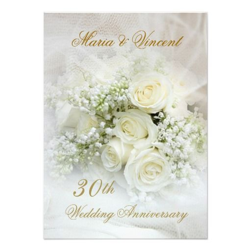 15 best 50th wedding anniversary invitation templates images on gorgeous white roses 30th wedding anniversary card stopboris Images