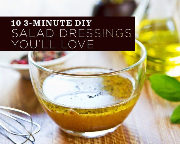 10 3-Minute DIY Salad Dressings You'll LOVE  - Photo by: Shutterstock http://www.womenshealthmag.com/nutrition/diy-salad-dressing