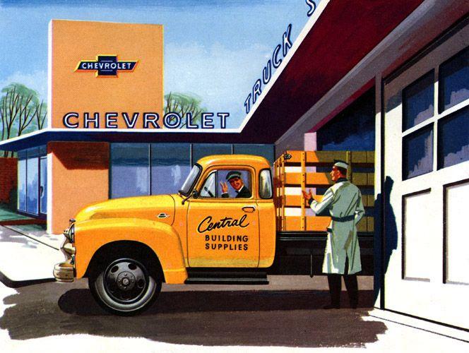 Plan59 :: Classic Truck Art :: 1955 Chevrolet trucks