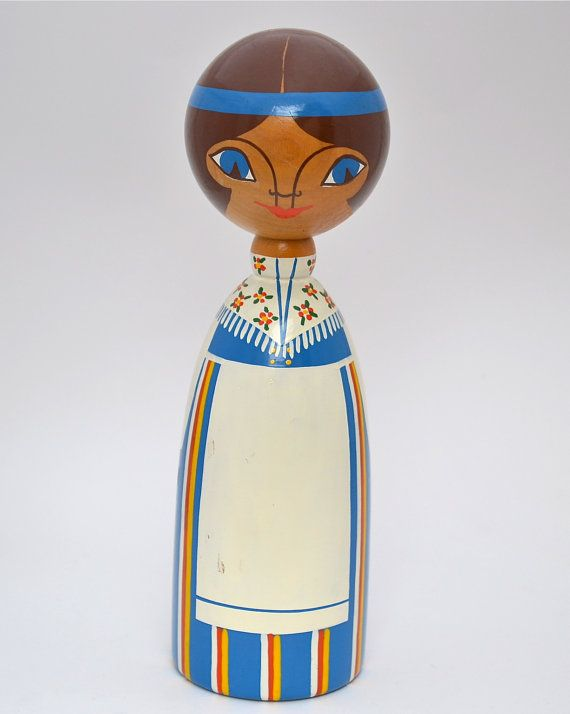 vintage wooden doll made in finland