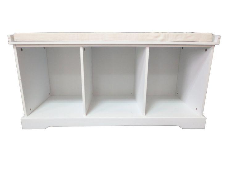 Perfect Amazon.com: Inskeppa White Entryway Storage Bench   Cubby Hole Design:  Furniture U0026