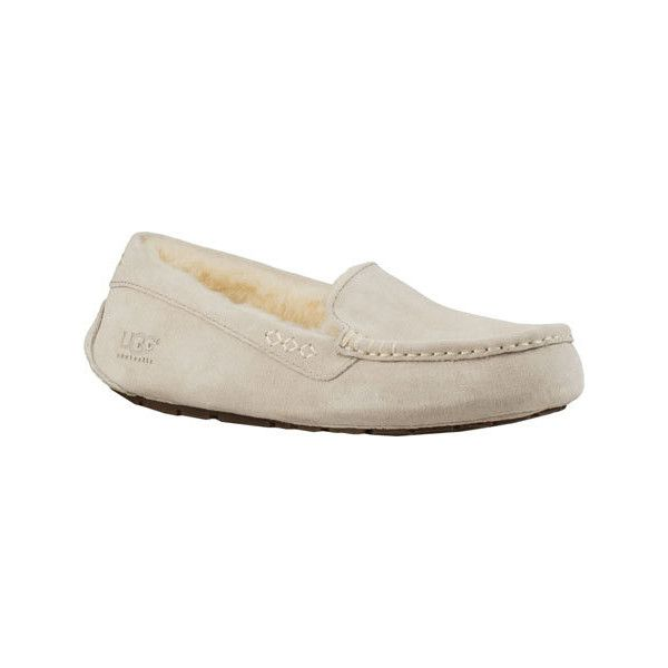 Women's UGG Ansley Moccasin - Moonlight Casual ($100) ❤ liked on Polyvore featuring shoes, loafers, blue, casual, casual shoes, mocassin shoes, mocasin shoes, blue shoes, ugg shoes and loafers moccasins
