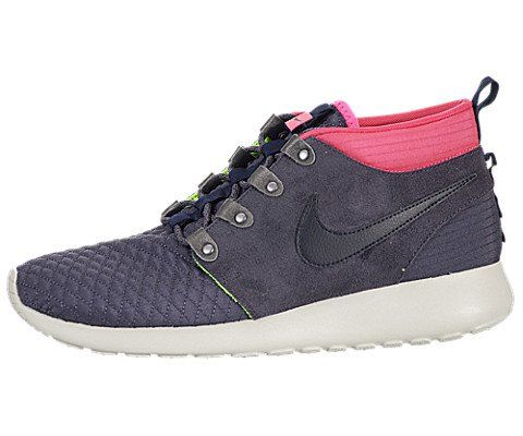 Nike Mens Roshe Run Sneakerboot GridironDrk ObsdnPnk FlVlt Running Shoe 11  Men US -- Want