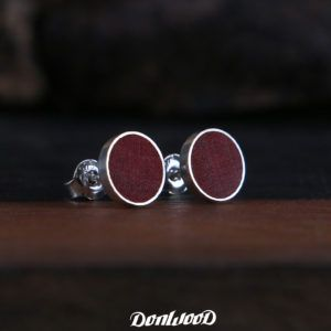 Pink ivory and silver - handmade earrings by DonWood.cz