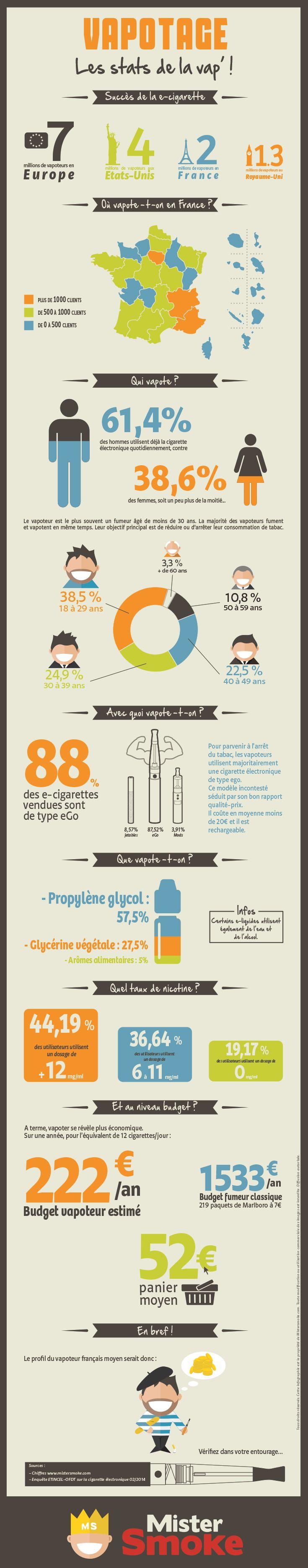 Infographie cigarette électronique 2014