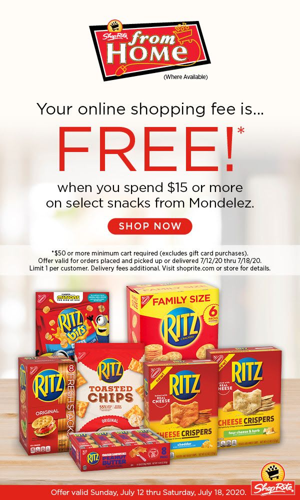 Shoprite From Home Online Shopping Fee Is Free July 12 2020 Thru July 18 2020