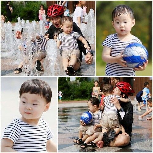 Song il gook triplet Daehan minguk manse. Super very cute :)