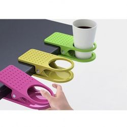 coffee cup clips -these are kinda cool, even if I don't work, you could easily put some recycled cans full of buttons or other small items in them and attach them to a craft table
