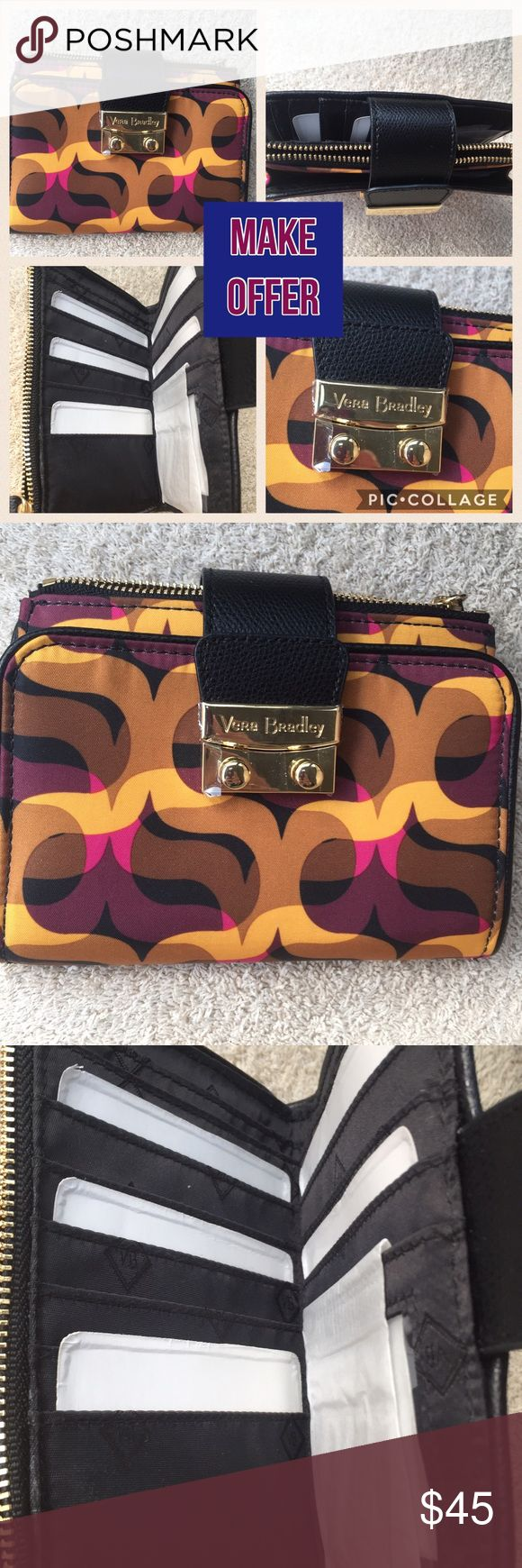 """✅JUST IN✅NEW ✅VERA BRADLEY BI- FOLD WALLET✅ ✅JUST IN✅BEAUTIFUL NEW UNIQUE RARE VERA BRADLEY FLORAL DESIGN BI- FOLD WALLET✅ SIZE ABOUT 6"""" x 6""""💖MAKE OFFER🌺BUNDLE AND SAVE🌺MAKE A BUNDLE OFFER YOU MAY GET FABULOUS PRICE🌺 Vera Bradley Bags Wallets"""