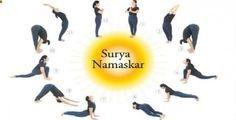 Surya Namaskara or Sun Salutation. Yoga Exercises to Increase Your Height After 21