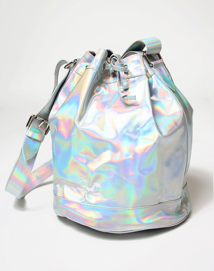 Motel Bucket Bag in Iridescent, TopShop, ASOS, House of Fraser, Nasty gal, Holographic
