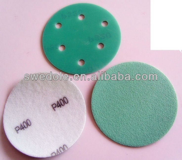 super quality green film hook and loop fastener sanding disc/hook and loop fastener& PSA sanding disc professinal manufacturer