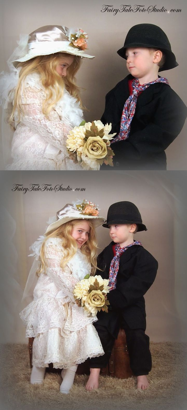 Old Fashioned Victorian Style Girl And Boy Valentines Day -3171