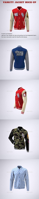 Download Varsity Baseball Bomber Jacket Mock Up