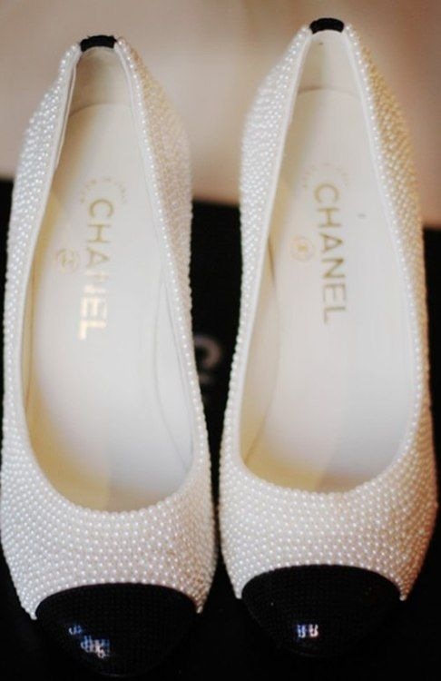 Chanel black and white shoes