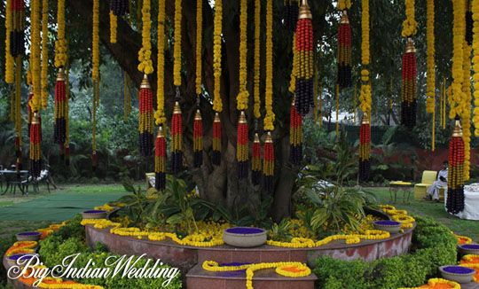 #Indianwedding decor by Ferns N Petals #marigolds