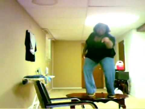 scarlet takes a tumble best - Fat black lady falls off table - woman falls of table - YouTube. This video cracked me up and it is sure to crack you up and if you look on instagram she falls to the universal thing before a movie and is the dun dun for it and if you don't have instagram It's on YouTube if you search universal parody.
