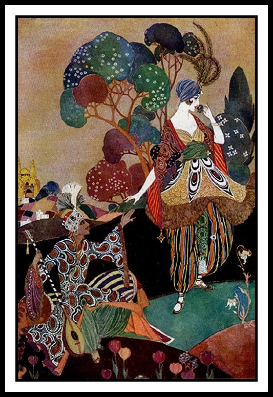 Colors called 39 orientalism 39 in the original pin george for Art deco illustration