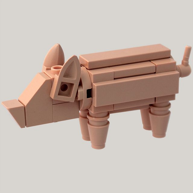 PIG by bruceywan, via Flickr...need to make one of these for Grams for Christmas. :)
