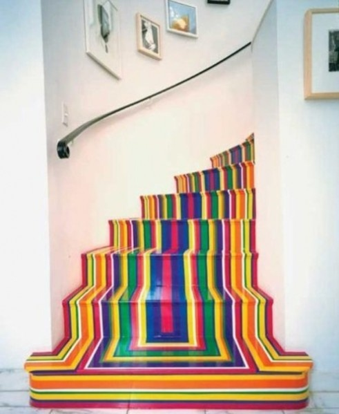 creative stairs for back basement steps