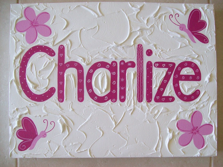 Girls Name Canvas  measures 30cm x 40cm  $55- + postage