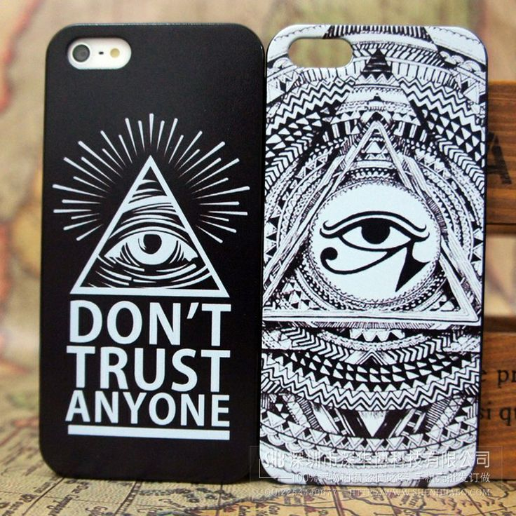 free shipping triangle Eye of God  phone case cover for Apple iphone5 drop shiping $2.99