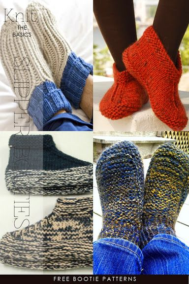 Knit bootie patterns, great for warm toasty feet | DiaryofaCreativeFanatic
