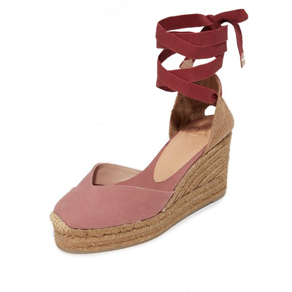 Castaner Classic Canvas Wedge Espadrilles ($140) ❤ liked on Polyvore featuring shoes, sandals, marsala, woven sandals, espadrille wedge sandals, castaner espadrilles, woven wedge sandals and canvas shoes