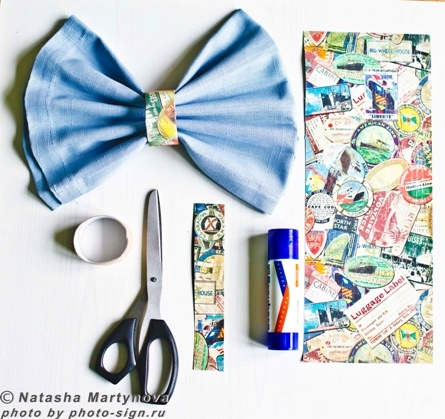 napkin, serviette, skrapbooking, travel, blue, easy making, home decor