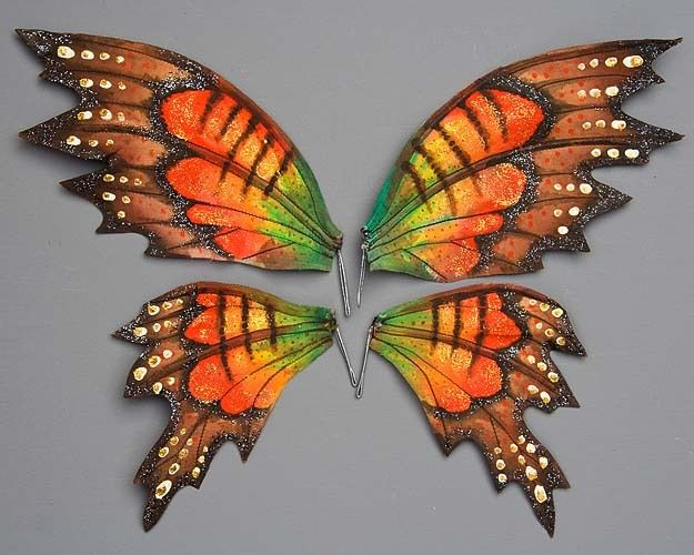 ....Tracey-anne: Make a set of wired wings for your favourite fairy.  instructions on this site.