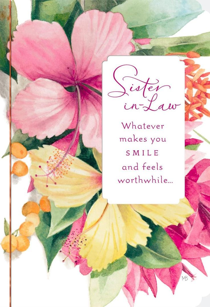 Makes You Smile Marjolein Bastin Birthday Card for Sister