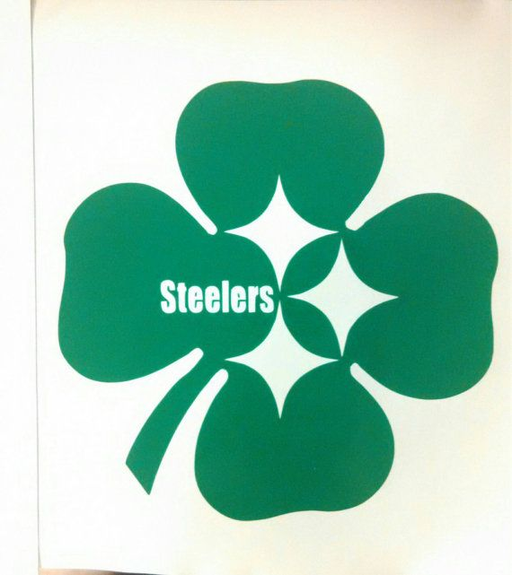 Irish pittsburgh steelers die cut vinyl decal window car