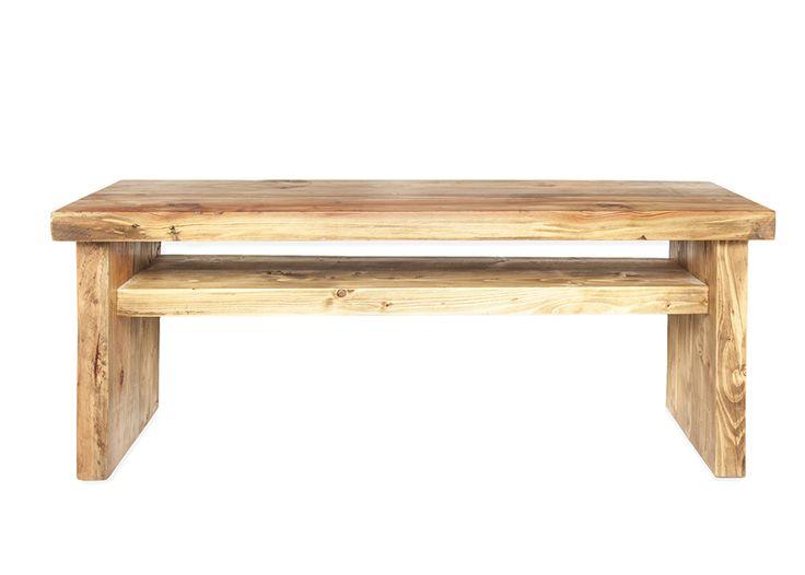 Pequeño mueble de televisión de madera reciclada