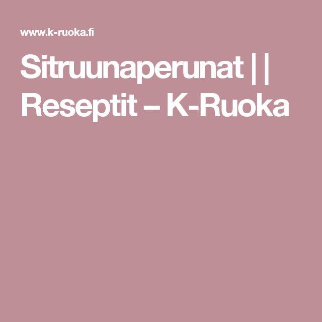 Sitruunaperunat | | Reseptit – K-Ruoka