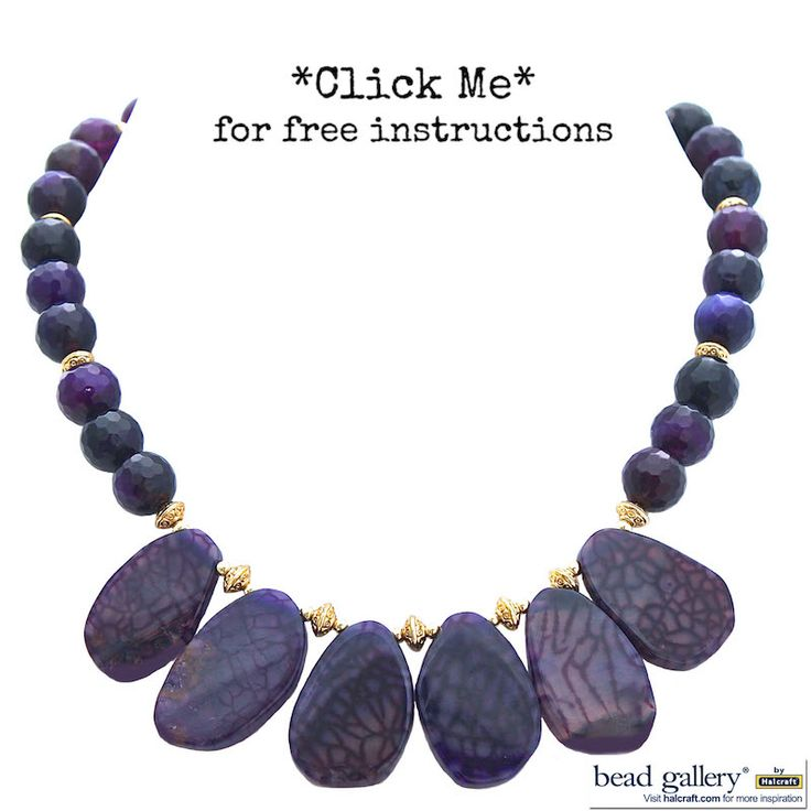Make Your Own Necklaces And Jewelry At Home: Make Your Own Amethyst Necklace With #BeadGallery Beads
