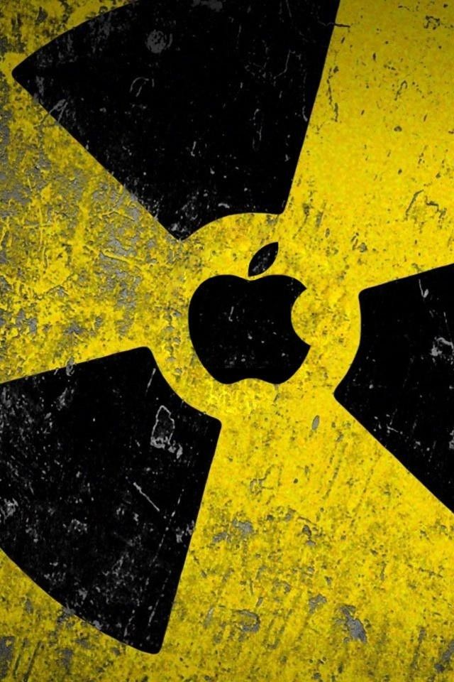 Radioactive Apple Sign Wallpaper 4k For Mobile Android Iphone