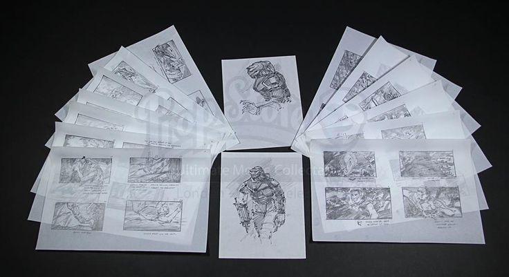 301 - Live Auction 2015 - Hand-Drawn Final Battle Storyboards & Predator Concept Artwork