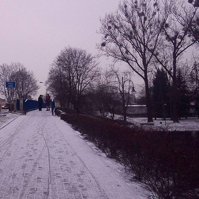 Dzien Dobry Udanego Nowego Tygodnia Zycze Dziendobry Milegodnia Poniedzialek Snieg Zima Winter Snieg Pisz Miasto City Most Rzeka Pis Outdoor Snow