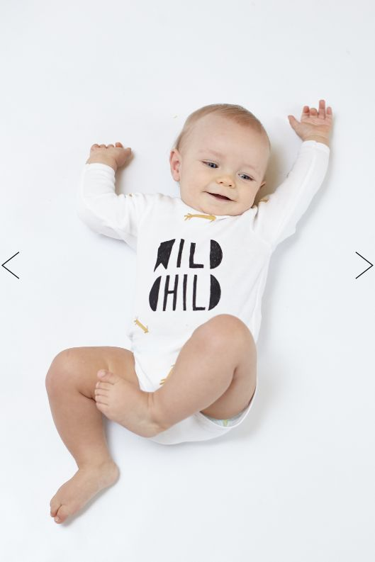 Body Wild Child, Our classic piece ! Sweet baby in cotton body. #body #firstclothes #wildchild #arrows #cute