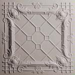 """Bentley Latte 2' x 2' Ceiling Tiles by Ceilume. $15.75. Made from 0.030"""" thick, vinyl plastic. 2' x 2'. Class A Fire Rated. Made in the USA. Volume pricing as low as $9.75. The styling accents of Bentley Ceiling Tiles in latte bring the visual warmth of light espresso to your ceiling and capture the rich, intricate flavor of the Baroque period."""