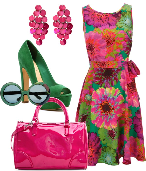 """""""Experimenting - Bright Spring"""" by lizzycb ❤ liked on Polyvore"""