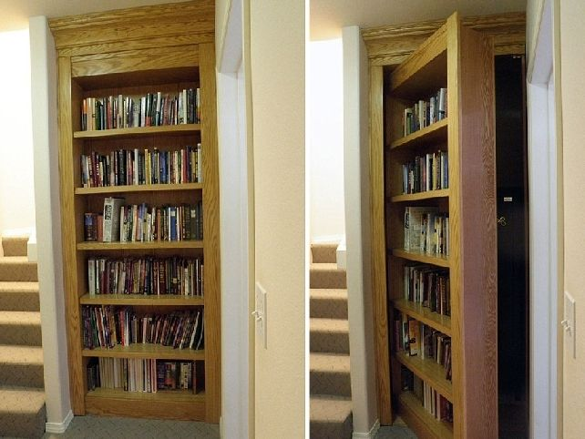 Hidden Gun Cabinet Bookcase Woodworking Projects Amp Plans