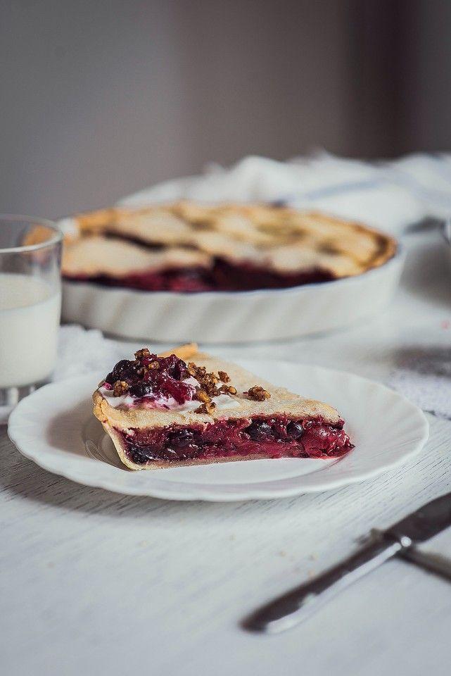 Закрытый пирог из песочного теста с начинкой из ягодного ассорти » Рецепты » Кулинарный журнал Насти Понедельник