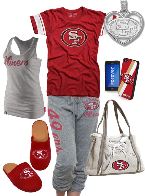 San Francisco 49ers inspired outfit. I need this!