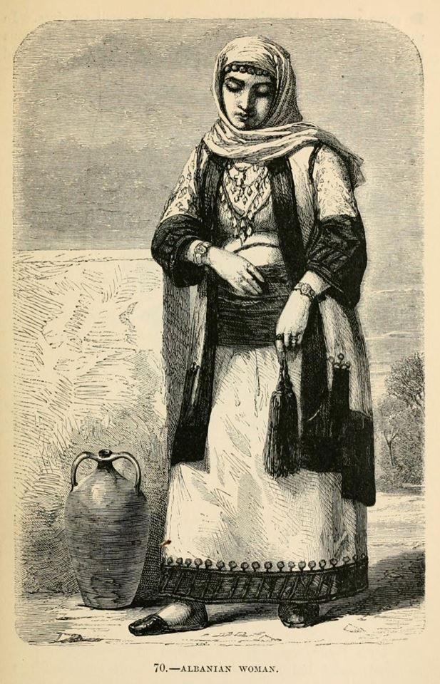 Louis Figuier - Albanian Woman(From Eleusina) .1872