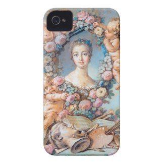 Madame de Pompadour François Boucher rococo lady iPhone 4 Case-Mate Cases #madame #pompadour #pastel #portrait #boucher #Paris #France #classic #art #custom #gift #lady #woman #girl