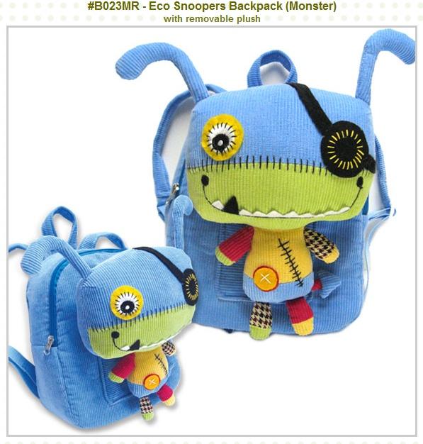 Love it!Wremov Plush, Removal Plush, Monsters Backpacks, Monsters Softies, Backpacks W Removal, Monsters Baby, Eco Snooper, Kids Toys, Backpacks Wremov