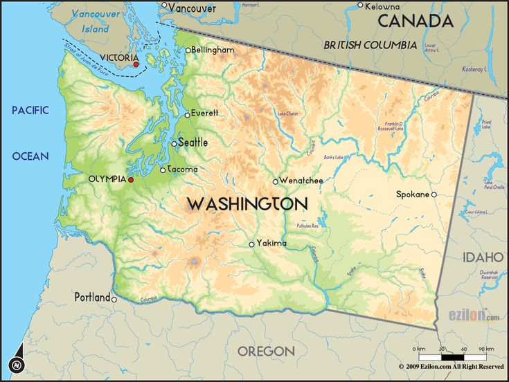 Best Washington State Map Ideas On Pinterest Seattle Sea - Us map washington state