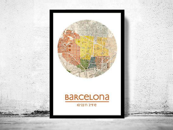 The 25 best Barcelona city map ideas on Pinterest  Barcelona